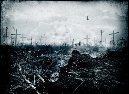 Graveyard end world illustrations