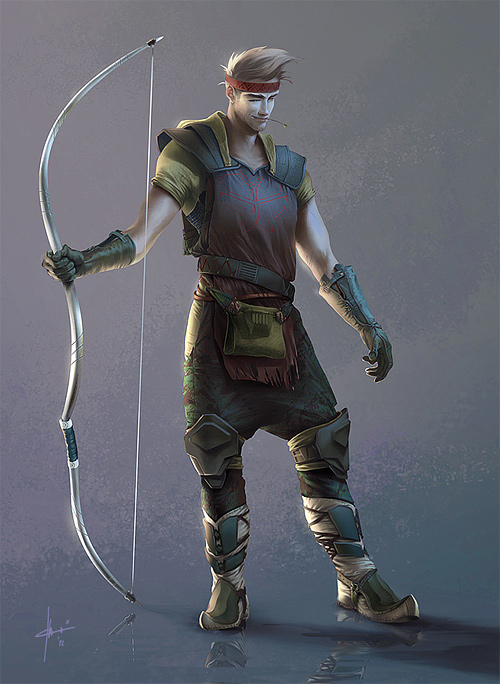 man archer illustrations artworks drawings