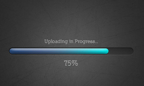 Blue Gradient Progress Bar (Psd)