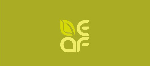 Word design leaf logo