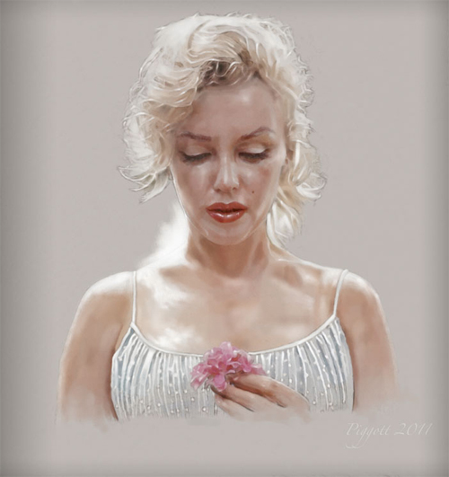 Beautiful innocent marilyn monroe artworks illustrations