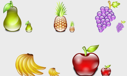 Delicious Fruits Icons
