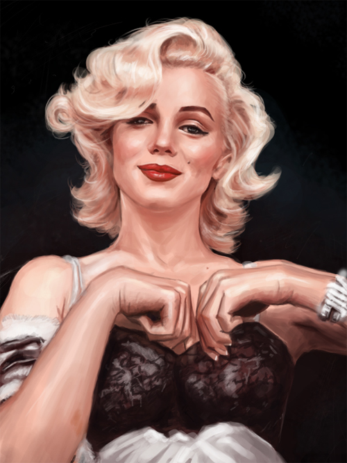 Beautiful airbrush marilyn monroe artworks illustrations