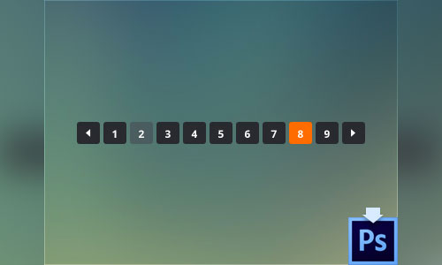 Clean Round Pagination (Free PSD)
