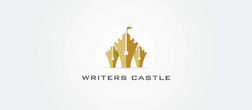 Pen write castle logo