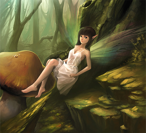 Simple cute beautiful fairy illustrations artworks