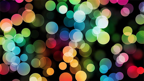 Colourblind Bokeh wallpaper