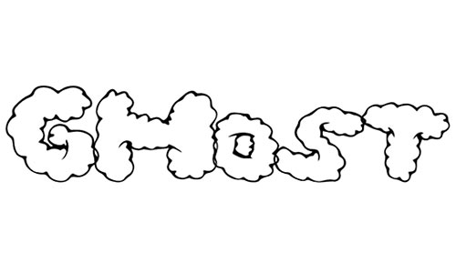 ghost clouds font