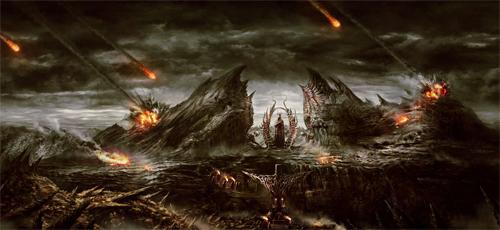 Fireball apocalypse end world illustrations