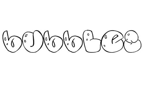 Some bubbles font