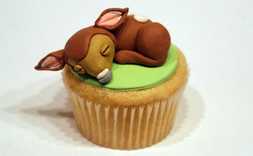 Bambi animal cupcake design inspiration