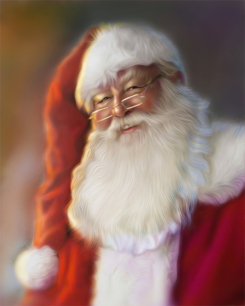 Old santa claus christmas artworks illustrations