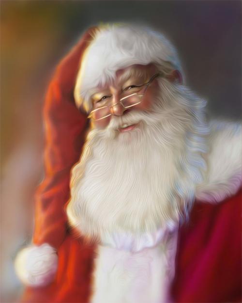 Old santa claus christmas artworks illustrations