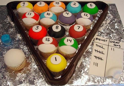 Billiard balls cupcake design inspiration