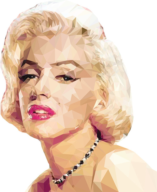 Geometric triangle marilyn monroe artworks illustrations