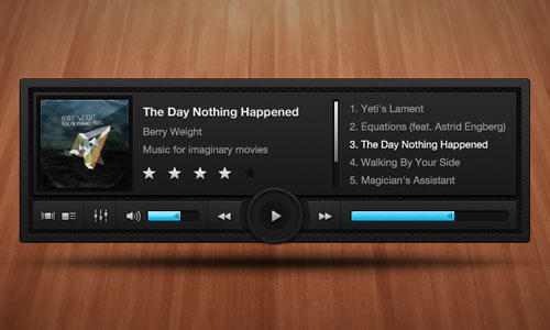 Dark, Complex Music Player