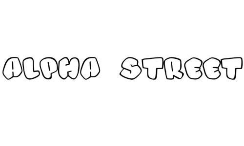 Alpha Street font