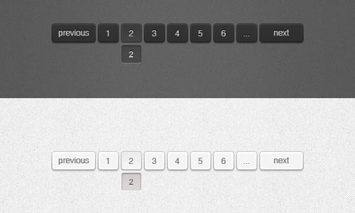 Dark & Light Web Pagination (Psd)