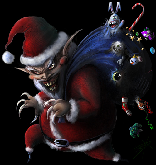 Claws santa claus christmas artworks illustrations