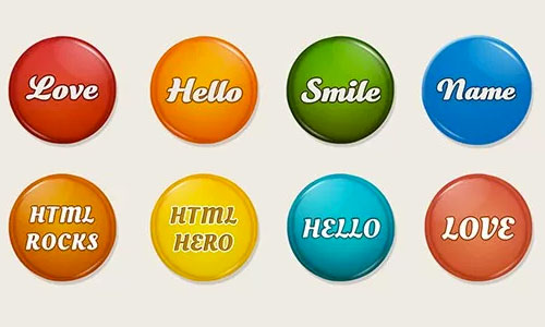 psd free badges