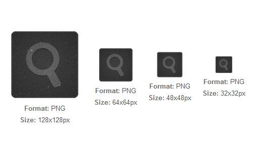 Black Textile Search icon