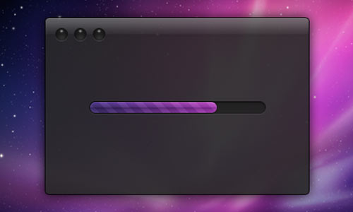 Dark UI Progress Bar PSD