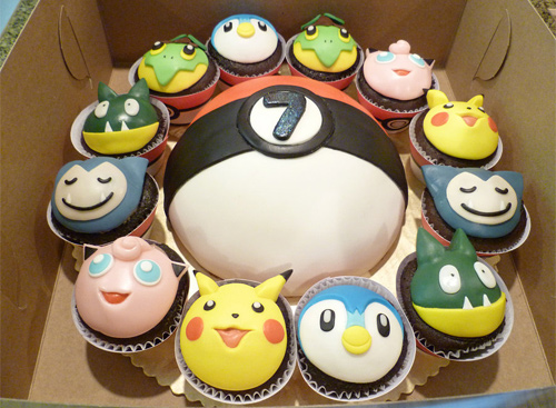 Pokemon cupcake design inspiration