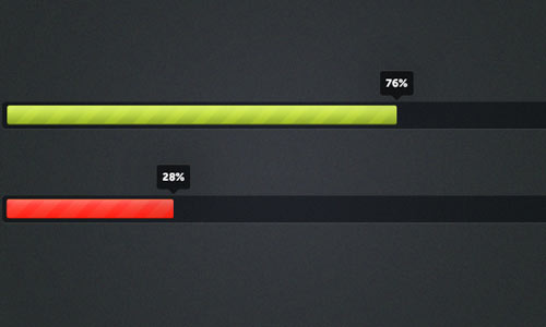 Striped Progress Bars PSD