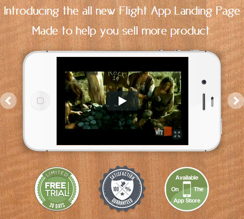 Flight App - Premium Landing Page