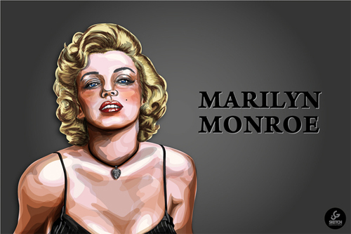 Amazing marilyn monroe artworks illustrations