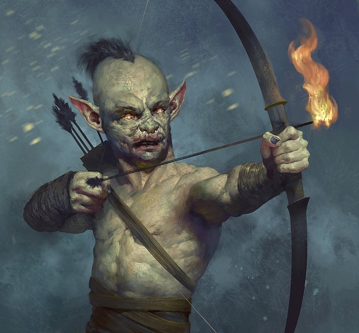 goblin zombie archer illustrations artworks drawings