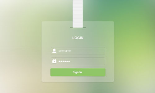 Stacked Paper Login (PSD)