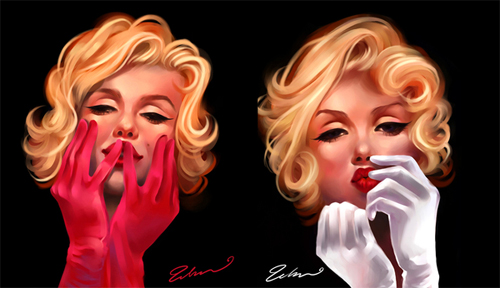 Painting digital marilyn monroe artworks illustrations
