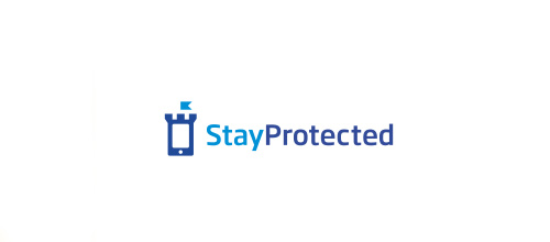 Phone security mobildevice castle logo