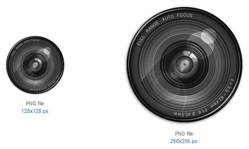 Grey Camera Lens Icon