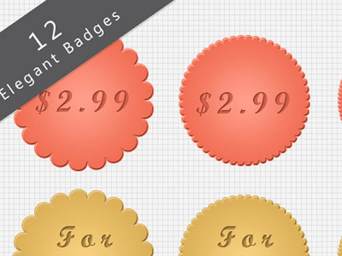 Elegant photoshop Badges