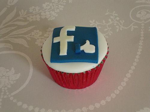 Facebook icon cupcake design inspiration