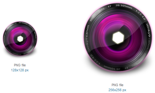 Lens Pink Icon