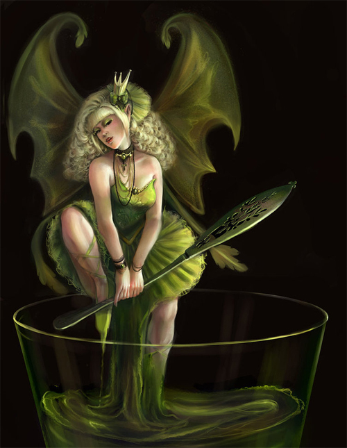 Green fairy illustrations artworks