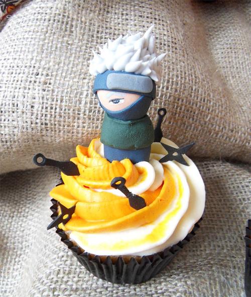 Kakashi cupcake design inspiration