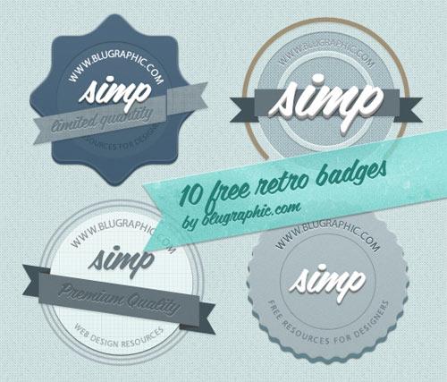 vintage badges free