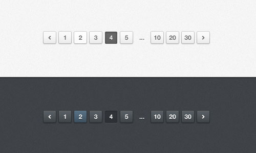 Light Pagination (PSD)