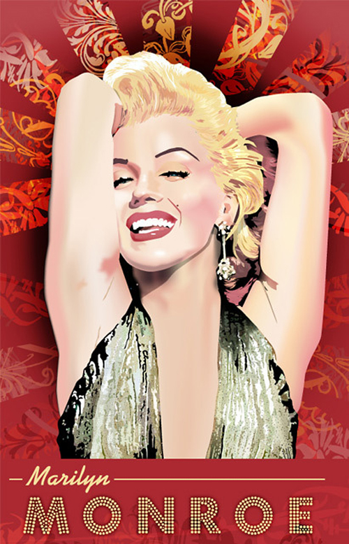 Seductive marilyn monroe artworks illustrations