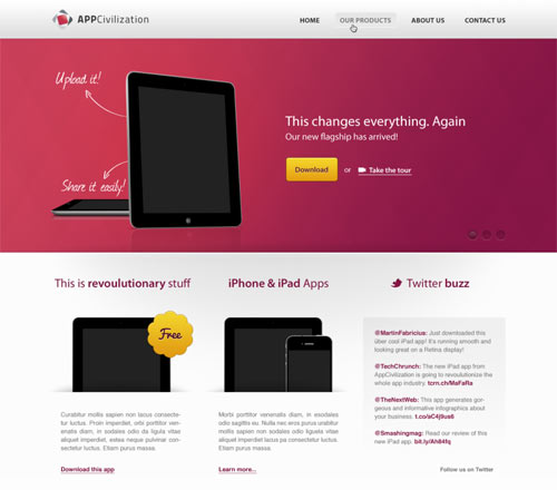 AppCivilazation: Free web design template