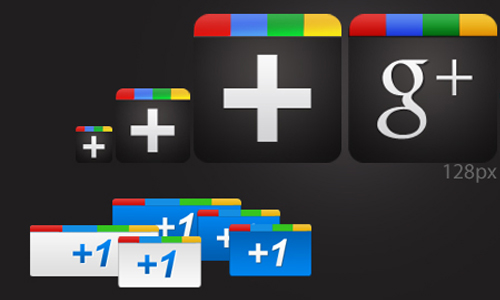 Google Plus Complete Icon Pack