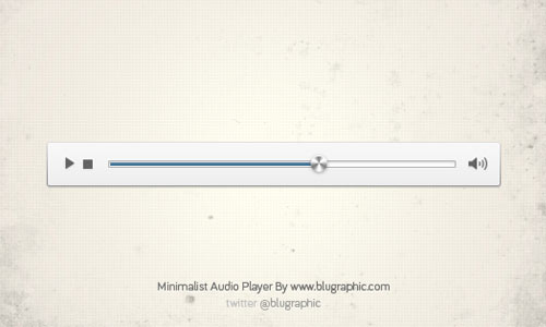 Minimalist Audio Player (Psd)