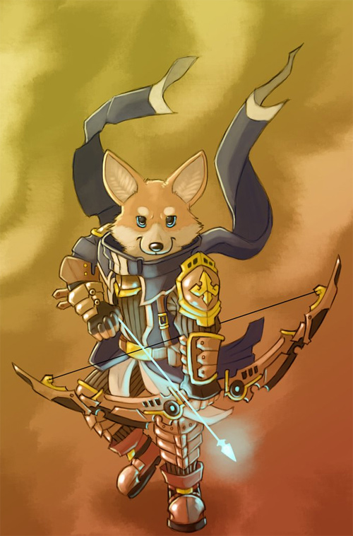 fox animal archer illustrations artworks drawings