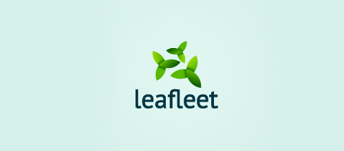 Cute leaf logo