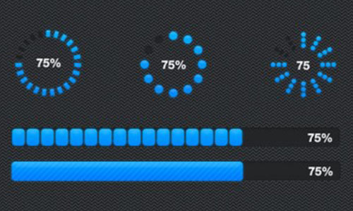 Round and Rectangle progress bar psd