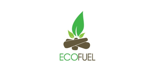 Eco fuel fire leaf logo